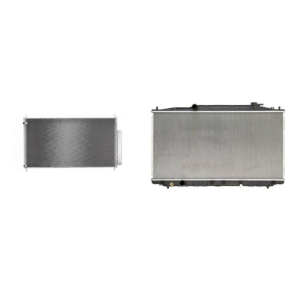 A/C Condenser & Radiator Kit For 2014-2016 Acura RLX