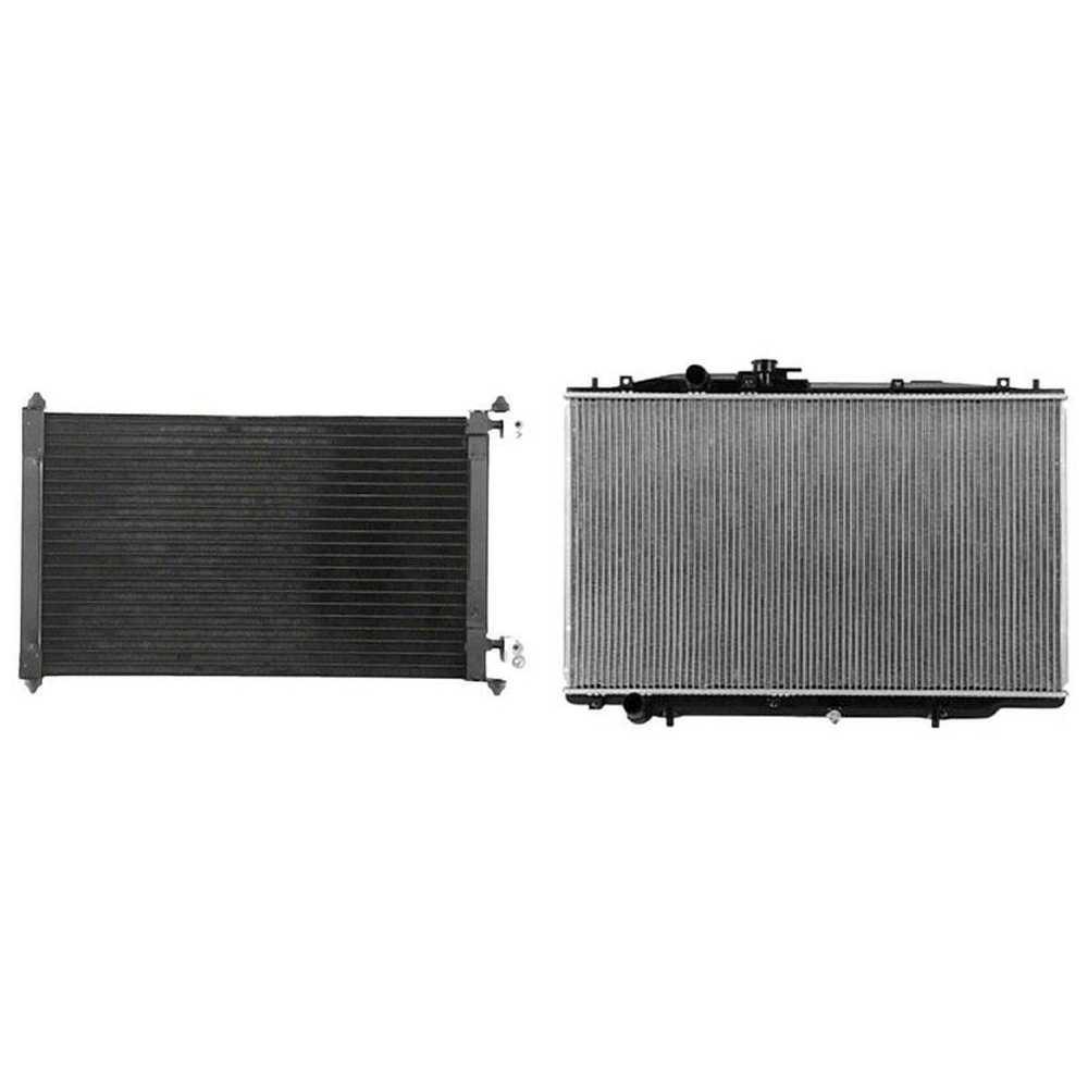 A/C Condenser & Radiator Kit For 2004-2006 Acura TL