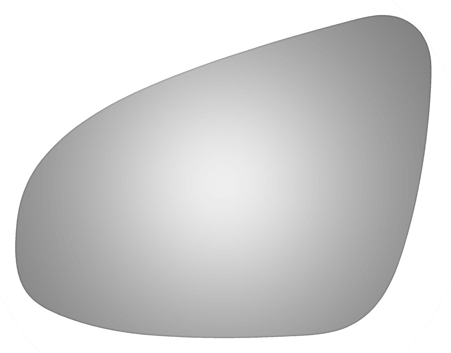 Driver Side Replacement Door Mirror Glass For 14 16 Toyota Corolla