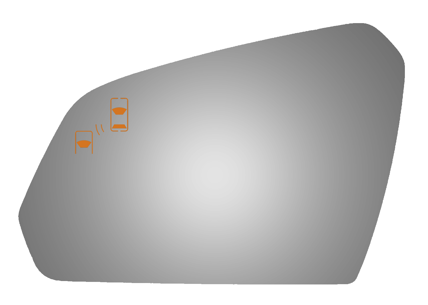 Driver Side Power Replacement Door Mirror Glass For 2015