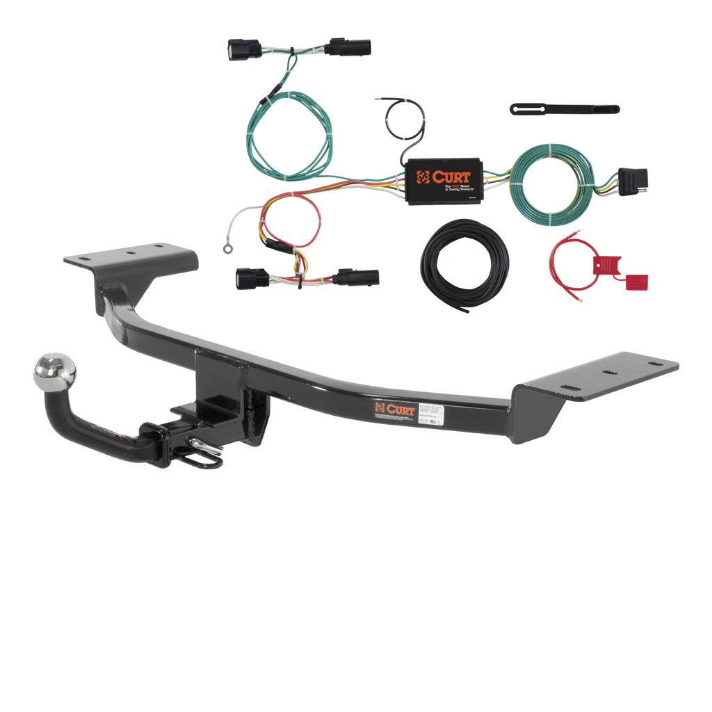CURT Class 1 Trailer Hitch & Wiring for 2015-2016 Ford Focus