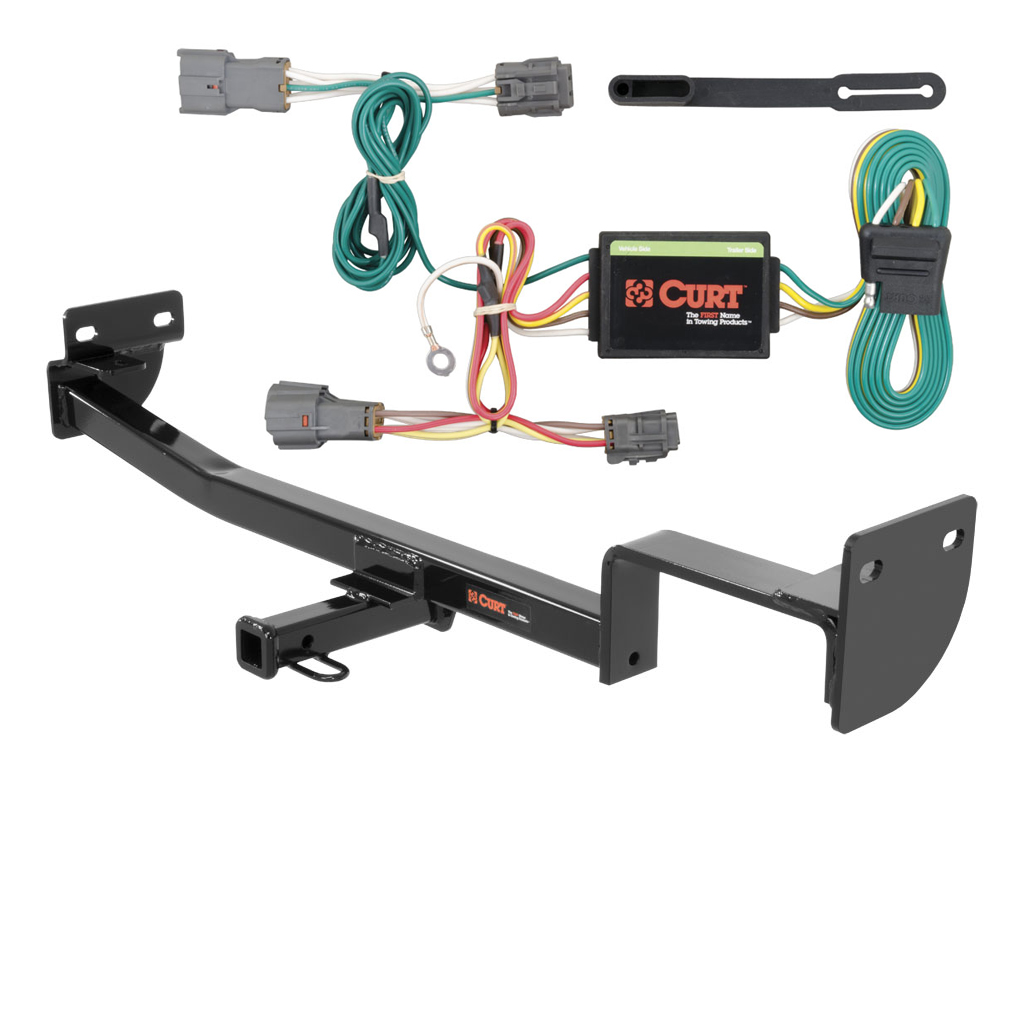 Image Is Loading CURT Class 1 Trailer Hitch Amp Wiring For