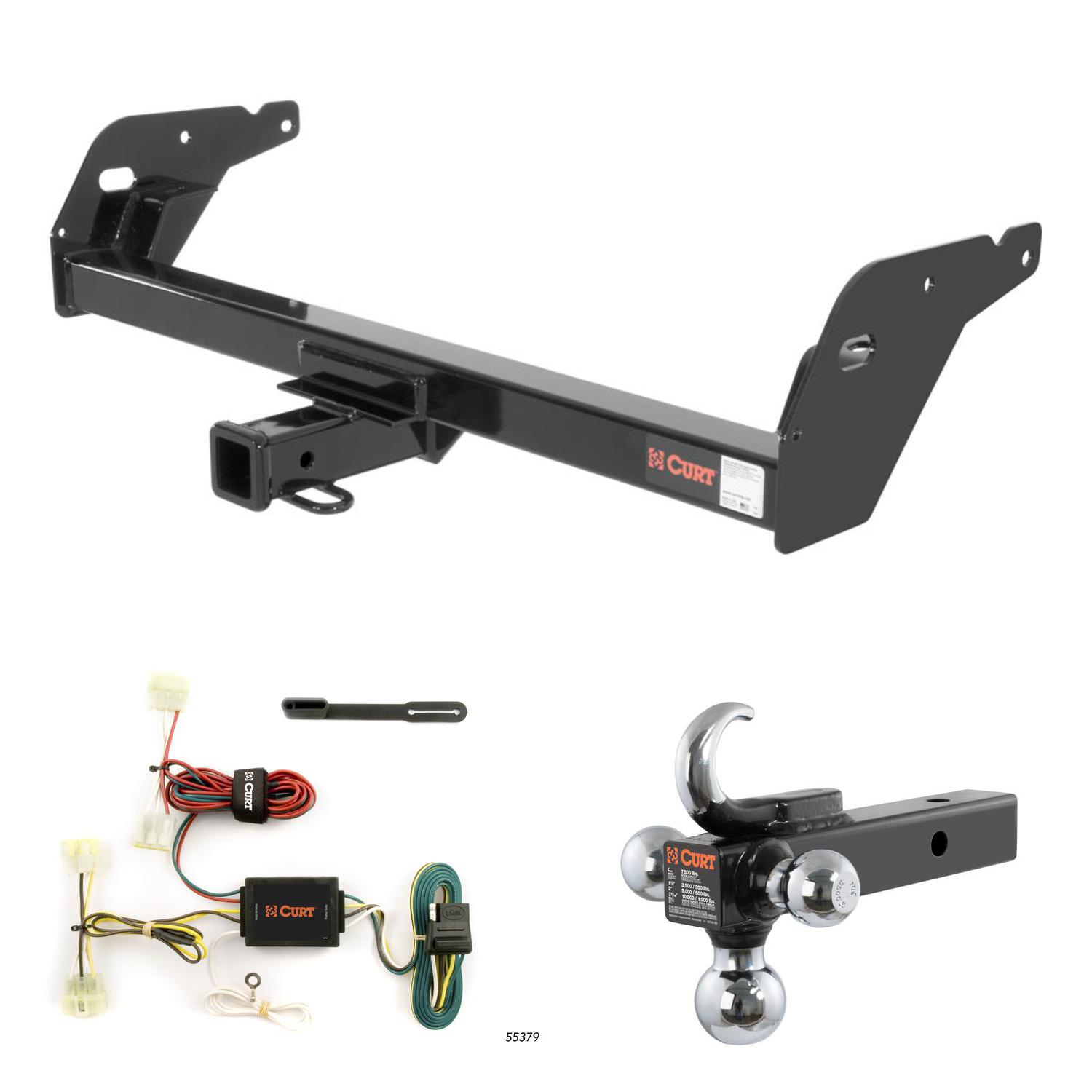 Fabulous Curt Trailer Hitch Wiring W Tow Hook Ball Mount For 95 04 Toyota Wiring 101 Relewellnesstrialsorg