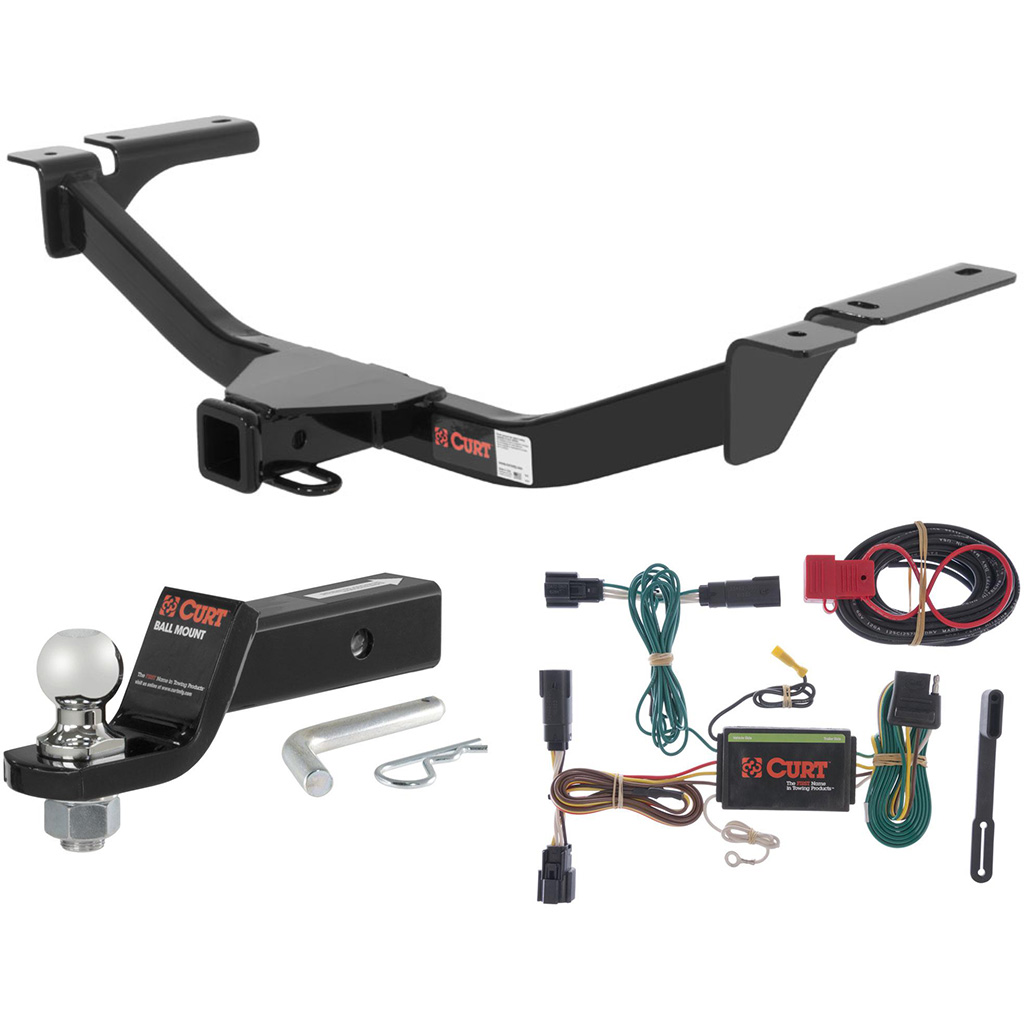 Curt Trailer Hitch Wiring 56160 Solutions Tconnector Harness 55567 Class 3 Tow Package With 1 7 8 Ball For 2018