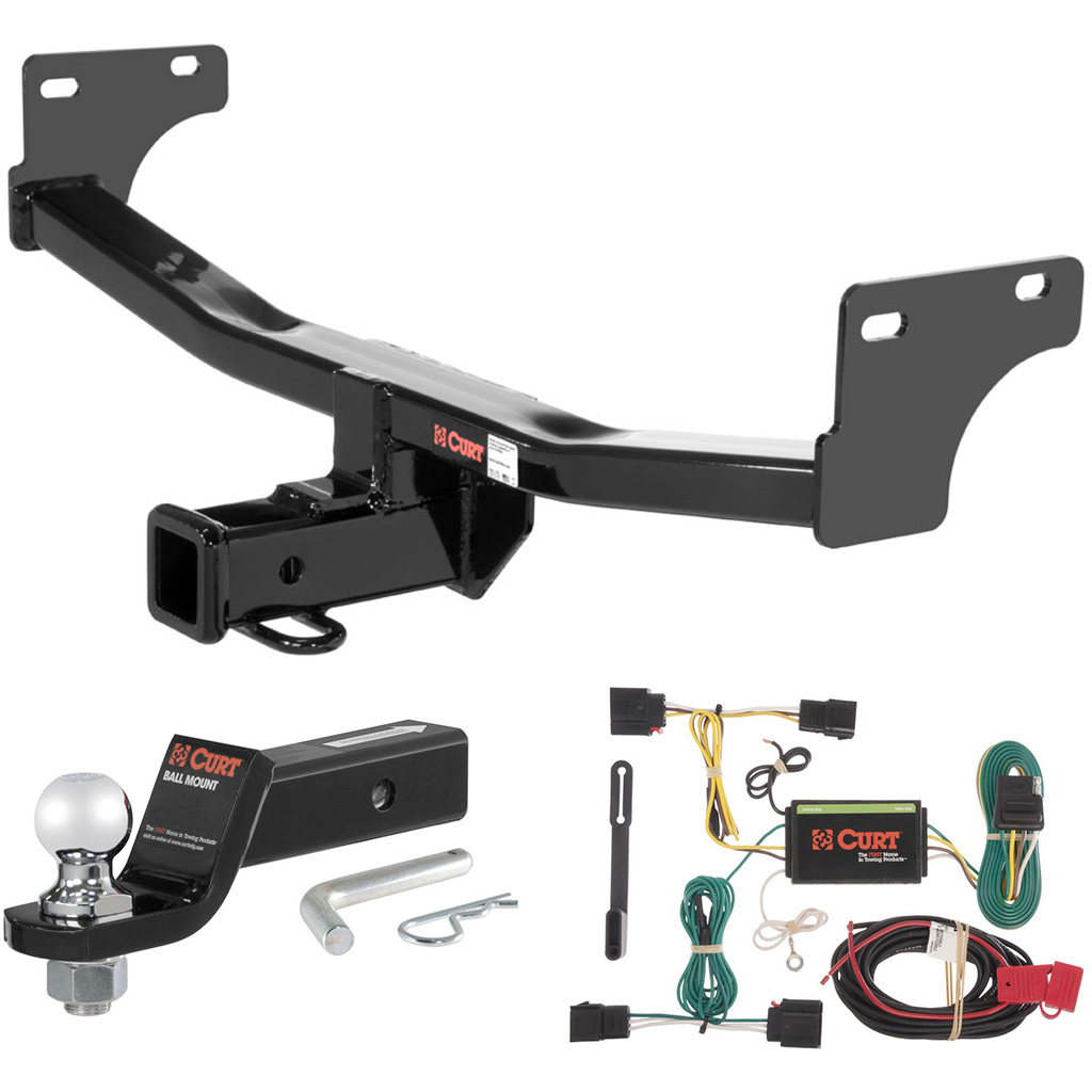 curt class 3 trailer hitch tow package with 2 ball for 2011 2016 jeep patriot ebay. Black Bedroom Furniture Sets. Home Design Ideas