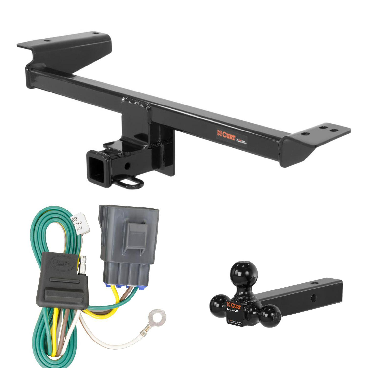 Image is loading CURT-Trailer-Hitch-Wiring-&-Ball-Mount-for-  sc 1 st  eBay : hitch wiring - yogabreezes.com