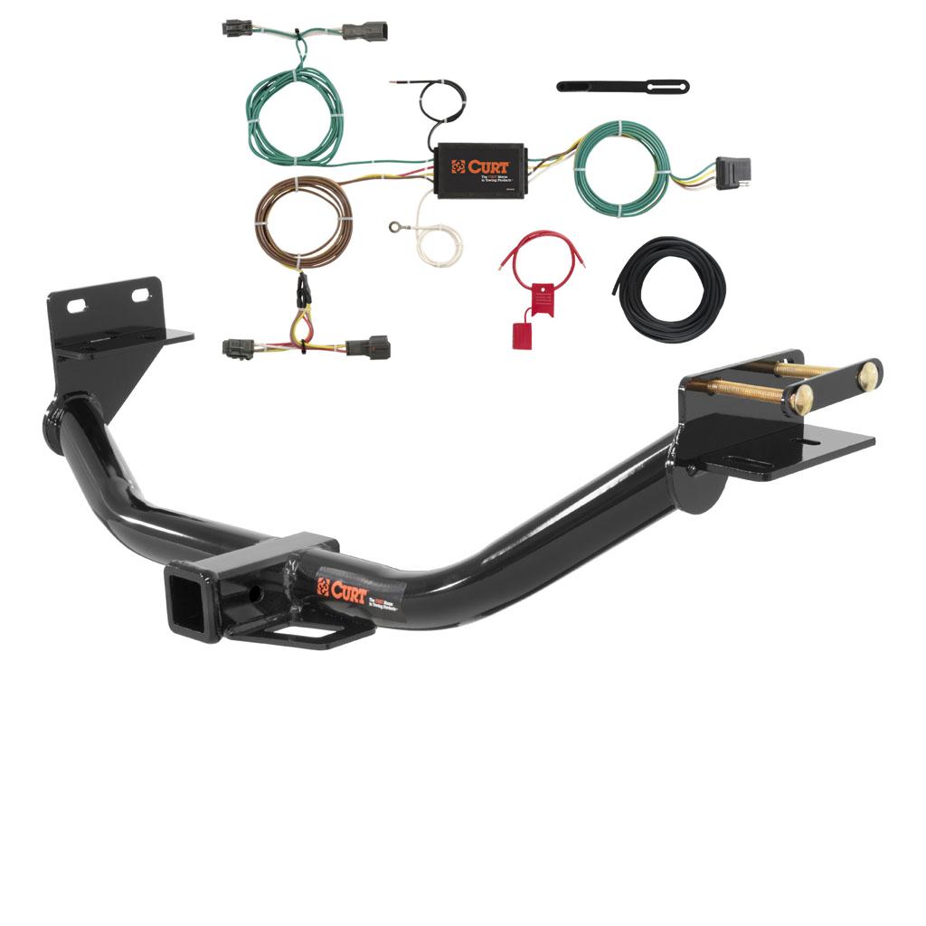 CUR 13152 56256 curt class 3 trailer hitch & wiring for 2014 2015 kia sorento ebay