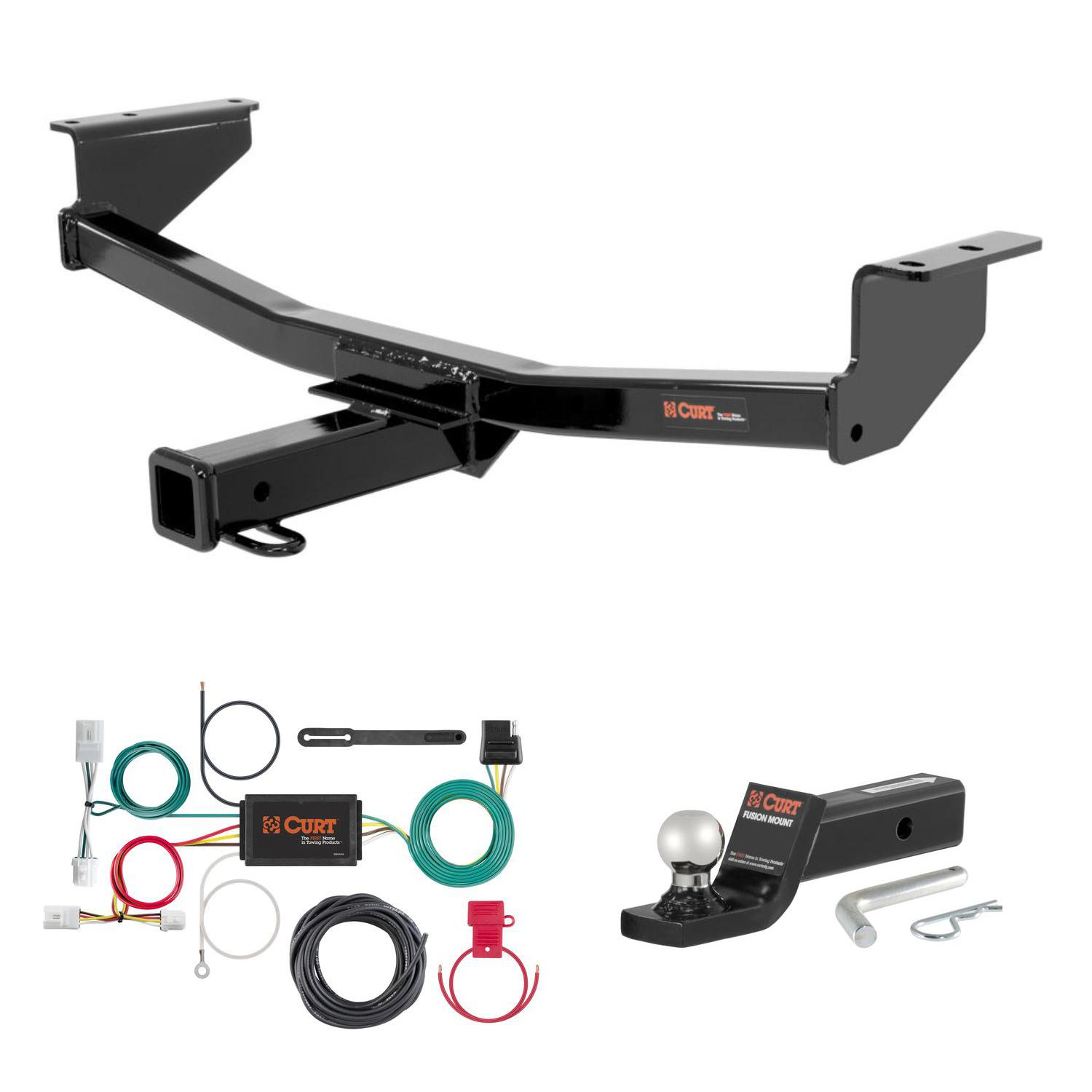 "CURT Trailer Hitch, Wiring & 1 7/8"" Ball Mount w/ 2"" Drop for 08-16 Nissan  Rogue"