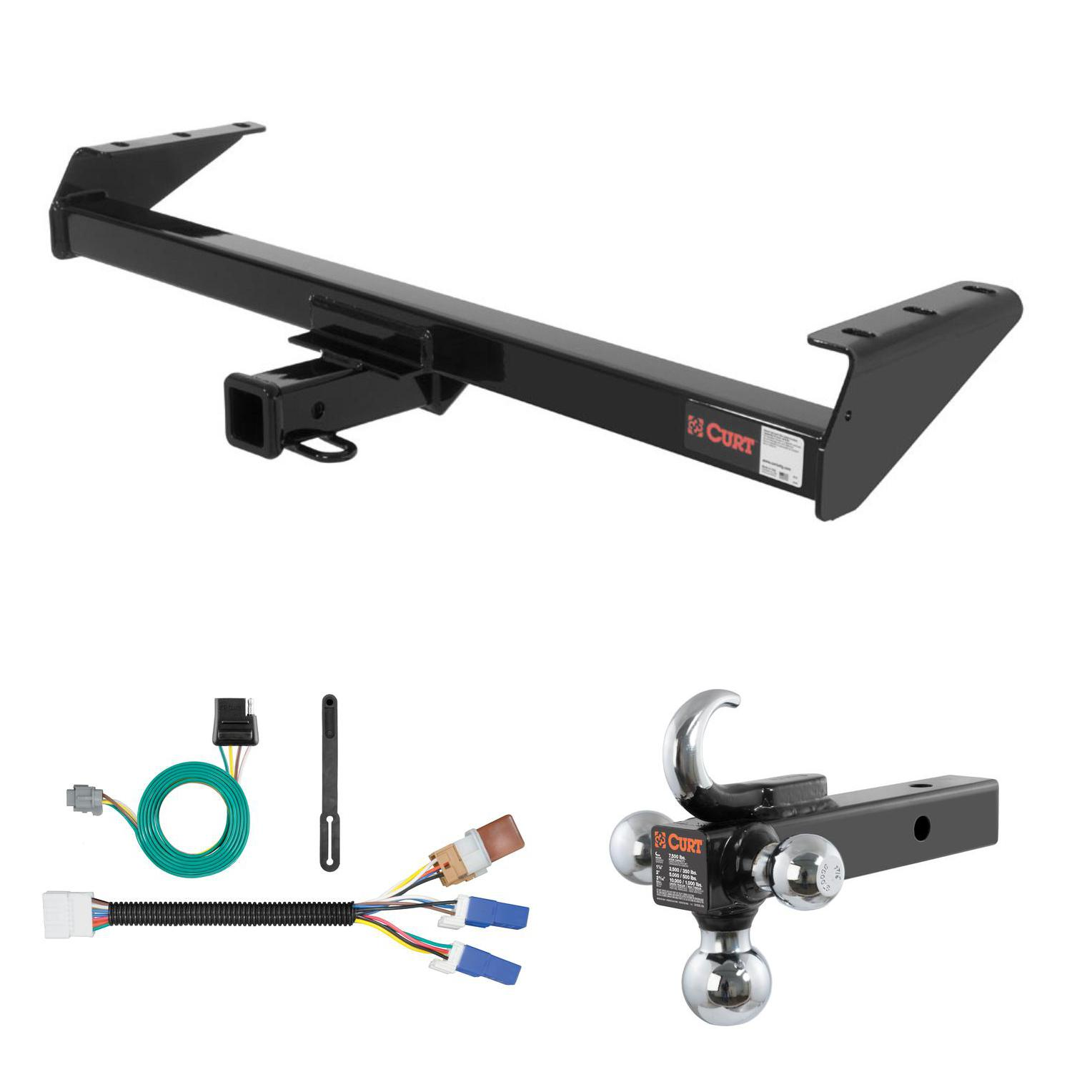CURT Trailer Tow Package w/ Tow Hook Ball Mount for Frontier ...