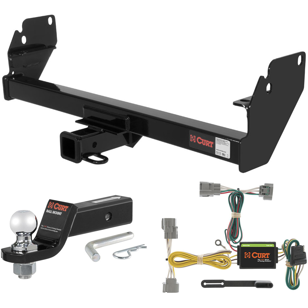 curt class 3 trailer hitch tow package with 2 ball for 2005 2015 toyota tacoma ebay. Black Bedroom Furniture Sets. Home Design Ideas