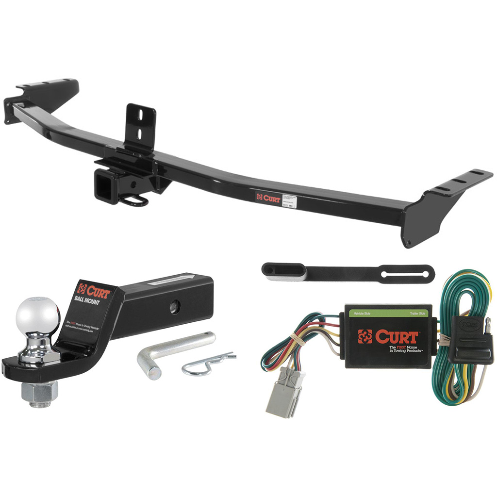 "CURT Class 3 Trailer Hitch Tow Package With 2"" Ball For"