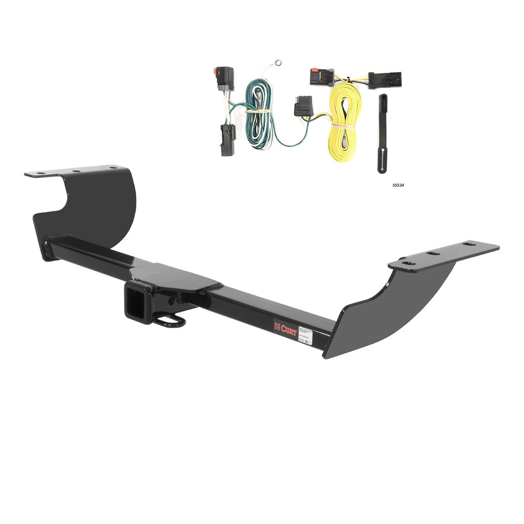 CURT Class 3 Trailer Hitch & Wiring for Chrysler 300, Dodge Challenger,  Charger