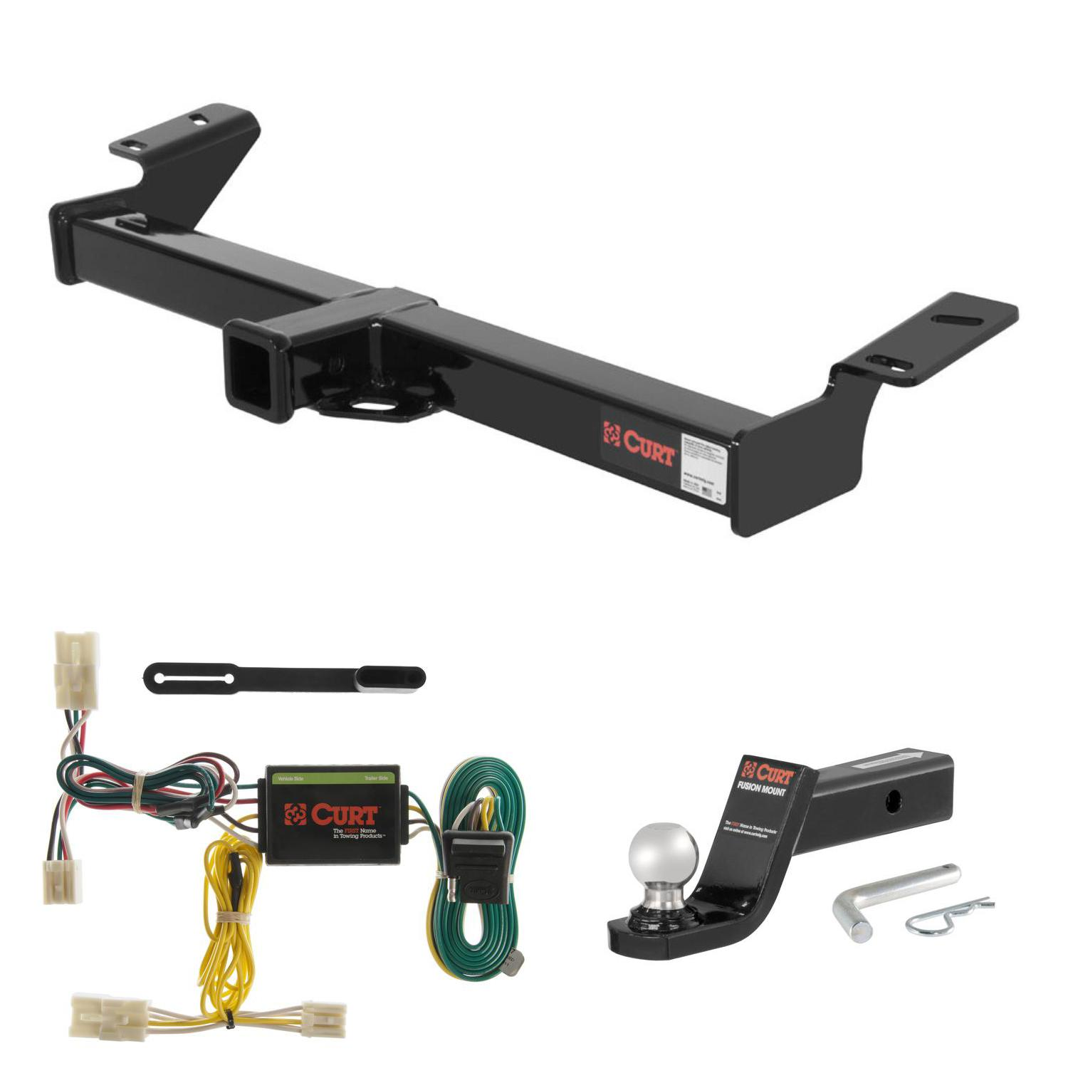 "CURT Trailer Hitch, Wiring & 2"" Ball Mount w/ 4"" Drop for 01-05 Toyota RAV4"