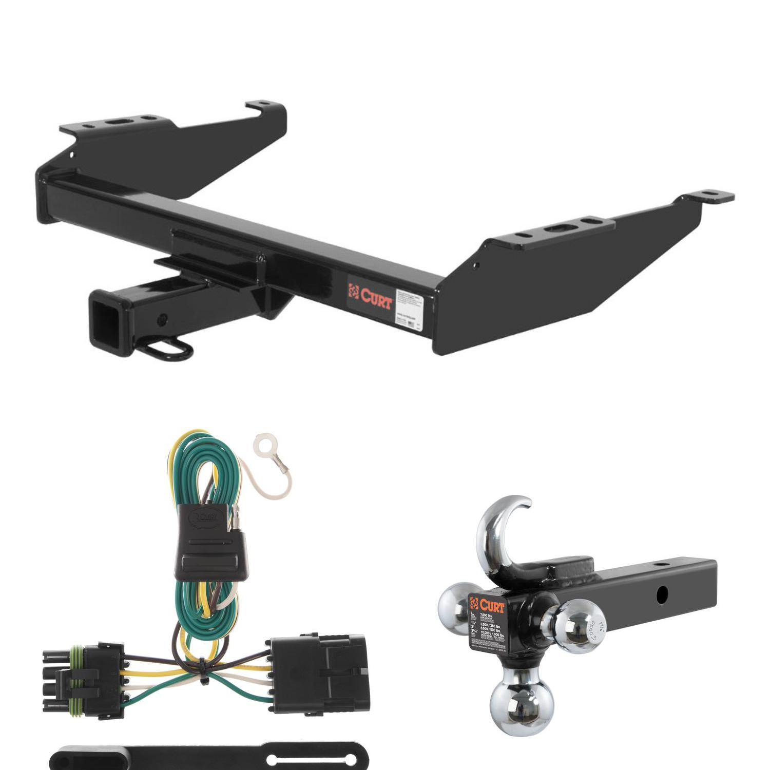 CUR 14081 55315 45675 curt trailer hitch, wiring & w tow hook ball mount for chevy curt trailer hitch wiring at n-0.co