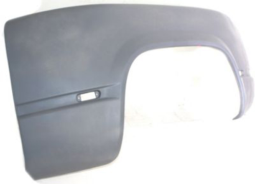 Replacement Fenders For Trucks : Rear driver side fiberglass fender replacement for