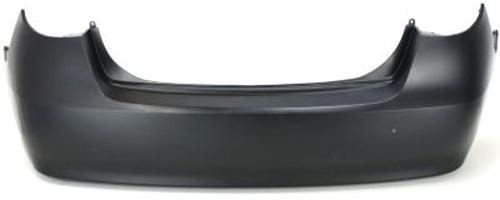 primed rear bumper cover replacement for 2007 2010 hyundai elantra sedan ebay. Black Bedroom Furniture Sets. Home Design Ideas